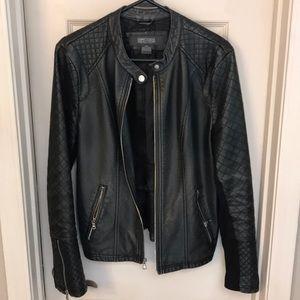 Kenneth Cole Reaction Black Leather Jacket